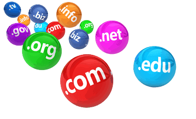 Domain Extensions on colored shiny balls